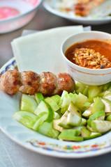 Fresh Vietnamese style food set