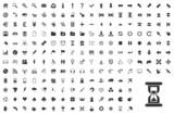 200 icons, web, modern