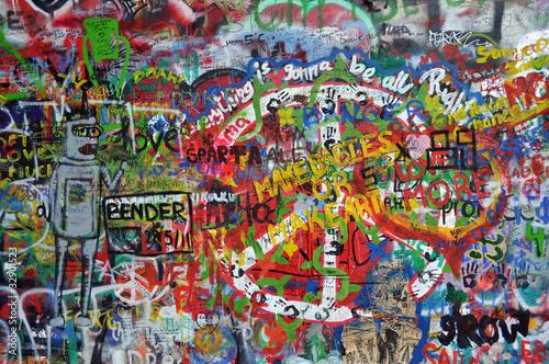 John Lennon wall in Prague - 32901523