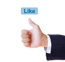 like hand and like button isolated
