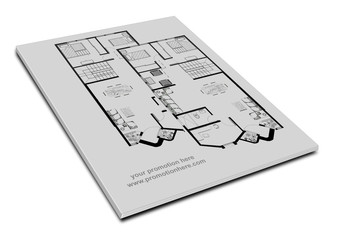 Libro o revista con planos de una vivienda