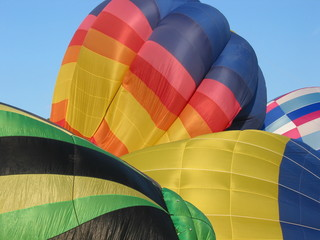 Hot Air Balloons Inflating
