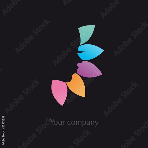 logo entreprise, logo esthétique, beauté, coiffure