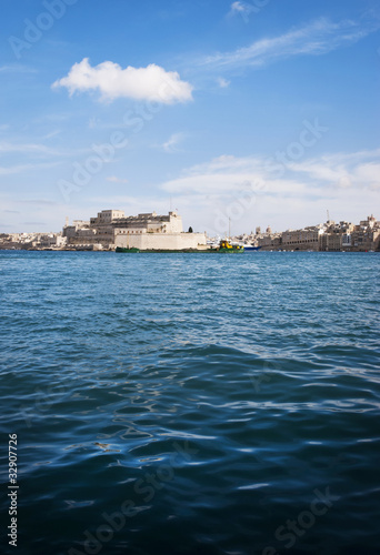 Birgu Bastions and barge