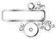Various metal cogwheels