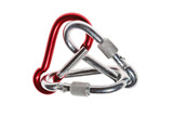 carabiner isolated over white
