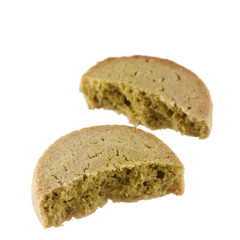 tasty cookie with green tea