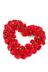 red roses heart