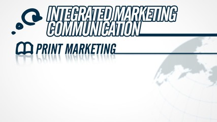 Integrated Marketing Communication video illustration on white