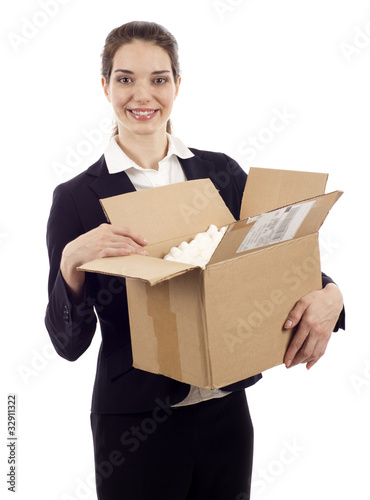 Woman with Postal Package