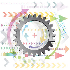 Abstract Gear # Vector