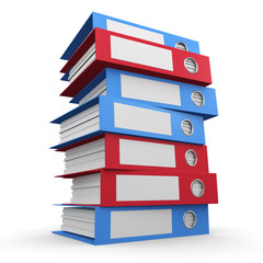 3d Stack of folders