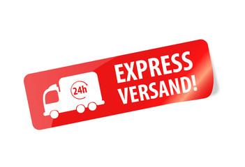 Express Versand Sticker