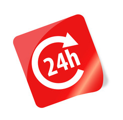 24h Sticker - Vektor