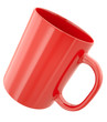 Simple red mug, 3D render.