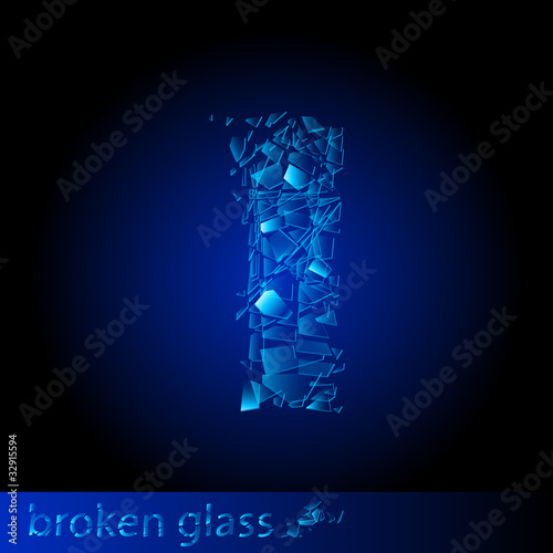 One letter of broken glass - I