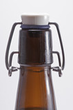 Swing top beer bottle