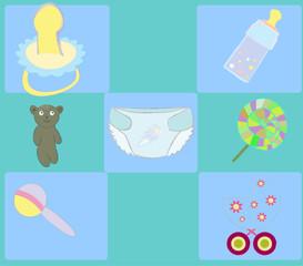 baby background , vector illustration