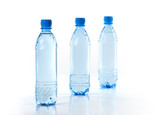Purify drinking water in a clear bottle poster