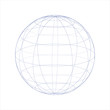 blue globe wireframe