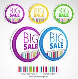 Color sale stickers