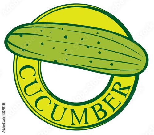 Vector: cucumber label design