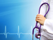 Doctor medical blue background