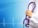 Doctor medical blue background