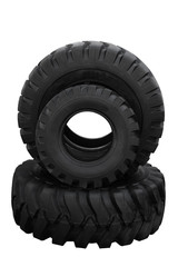 Three tractor tyre covers
