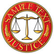 scales of justice seal (badge)