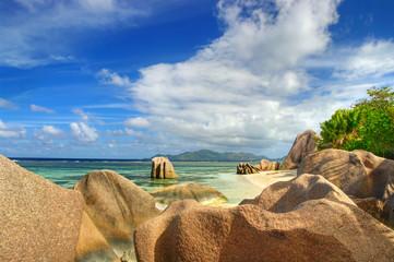 granite rocky beaches of Seychelles