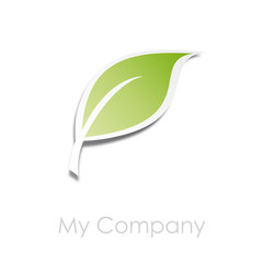 Logo plate leaf  # Vector
