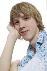 Portrait of young fair-haired boy