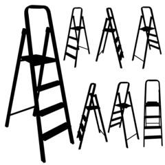 ladder black silhouette