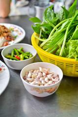 Variety of vegetables for Vietnamese food
