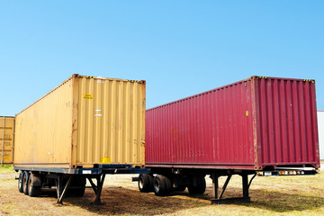 container on truck trailer