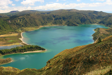 view on lake Lagoa do Fogo