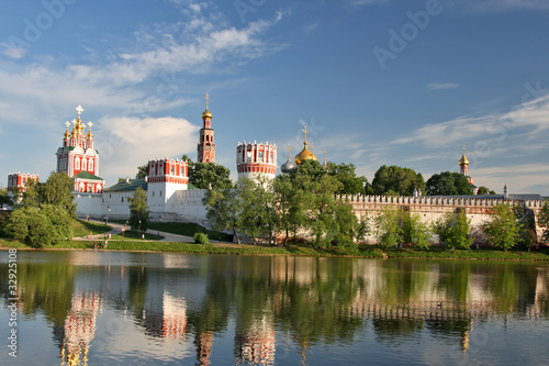 Beautiful view on the church. Moscow. Russia.
