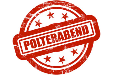 Sternen Stempel rot POLTERABEND