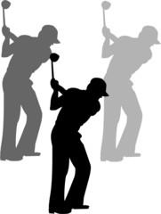 Golf sport man