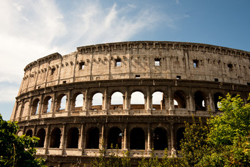 Colosseum, Rome, an exterior view.
