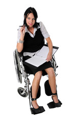 Businesswoman On Wheelchair