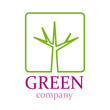 Logo green company, tree # Vector
