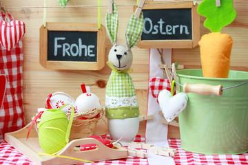 Frohe Ostern-Naturmort