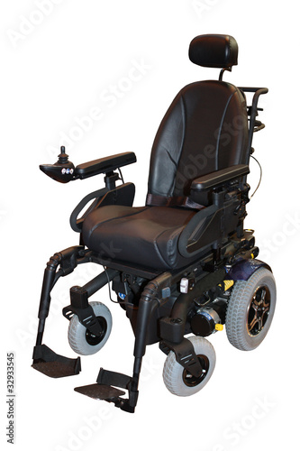 A Modern Electric Motorised Disability Wheelchair.
