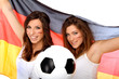 Mädchen mit Fußball