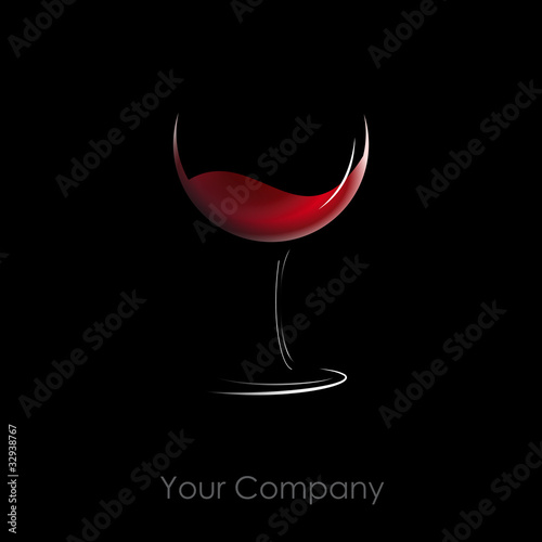 Logo glass of wine # Vector