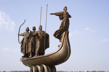 Monument of the mythical founders of Kiev