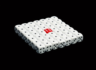 dice in square