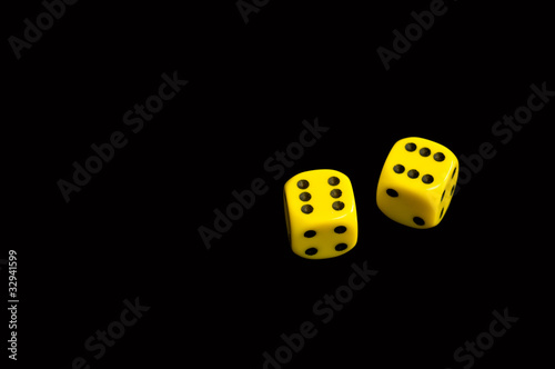 yellow six dice
